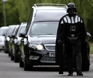 Darth Vader Leads a Funeral Procession