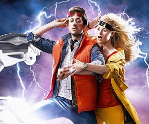 Back to the Future Engagement Photo: Great Shot!