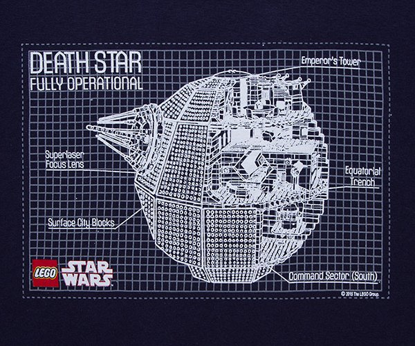 LEGO Death Star Blueprint T-Shirt
