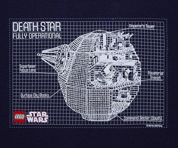 LEGO Death Star Blueprint T-Shirt