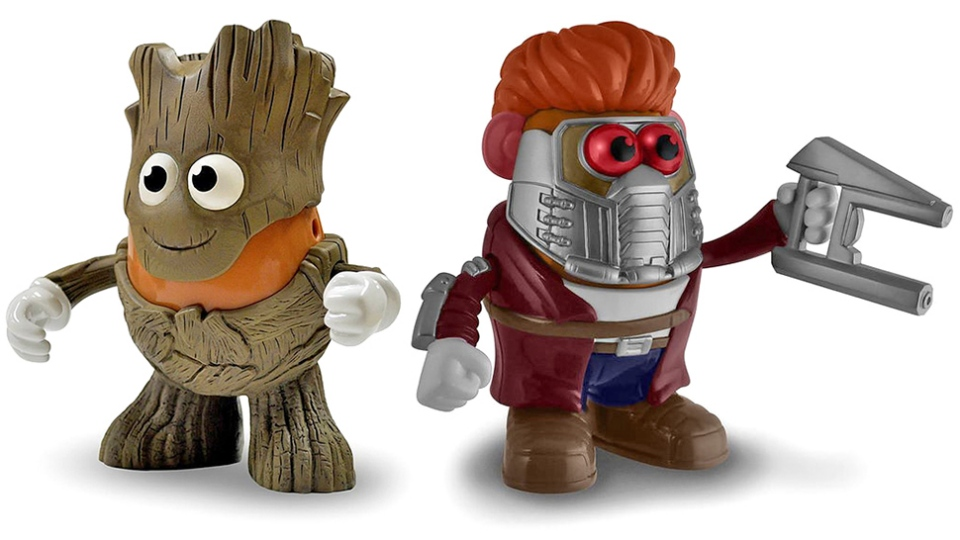 Groot and Star Lord Mr. Potato Heads