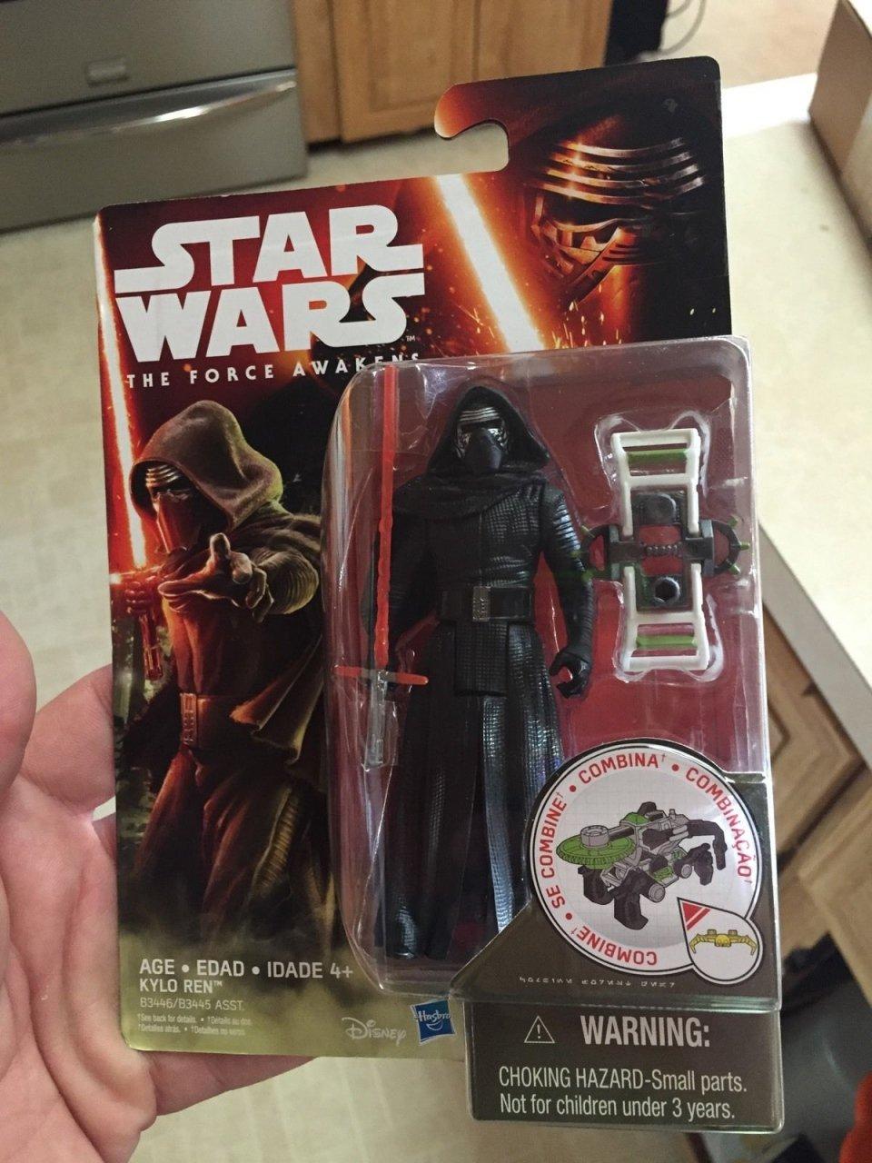 Leaked The Force Awakens Kylo Ren Action Figure Sells on eBay