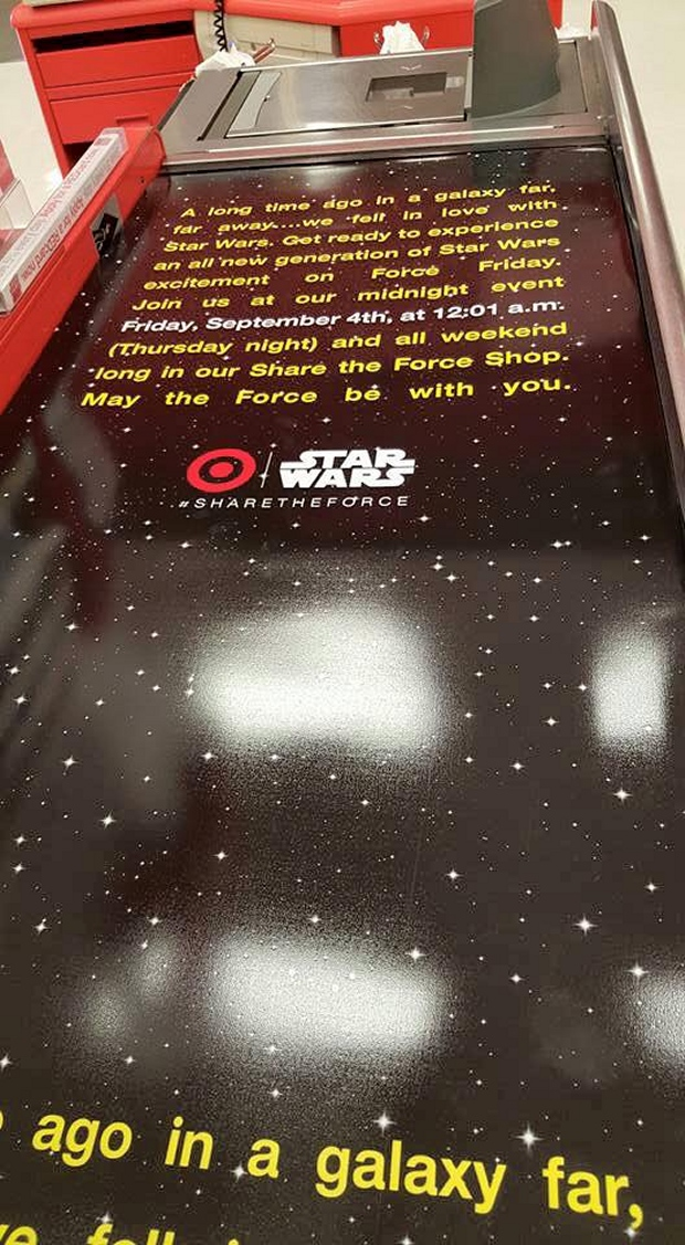 "Target Gets ""Opening Crawl"" Register Belts"