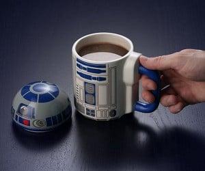 R2-D2 Coffee Mug Flips Its Lid