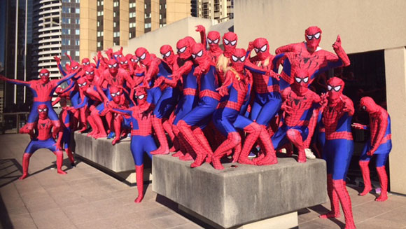 Mass Gathering of Spider-Men Vies for World Record