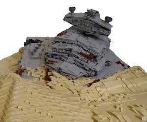 LEGO Star Destroyer Crashed on Jakku