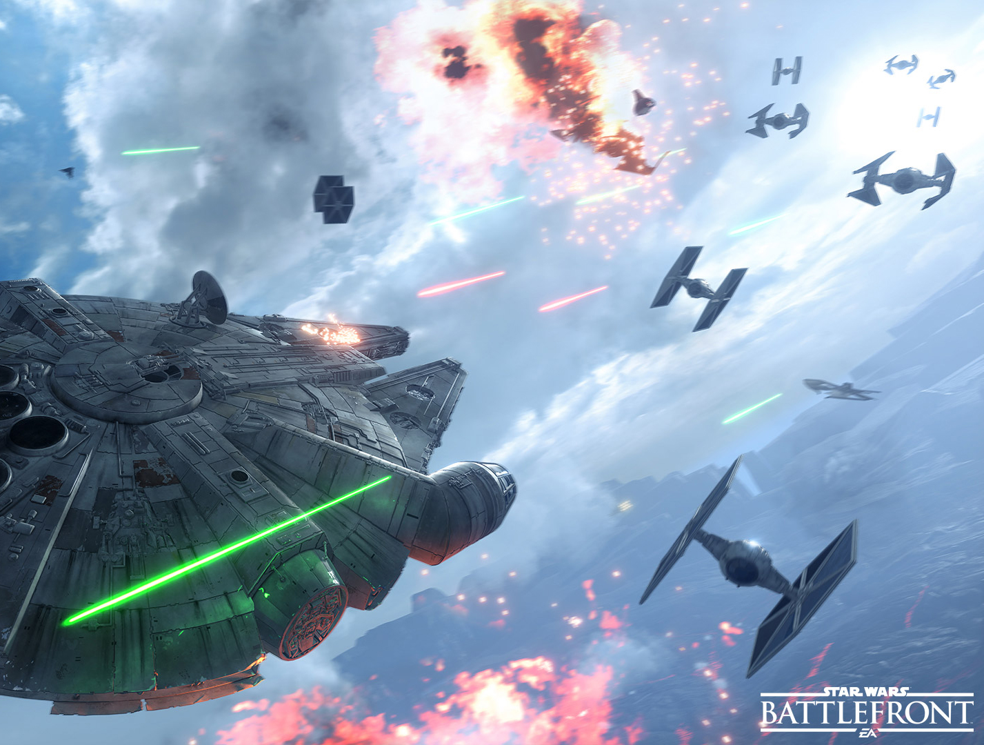 Star Wars: Battlefront Fighter Squadron Gameplay
