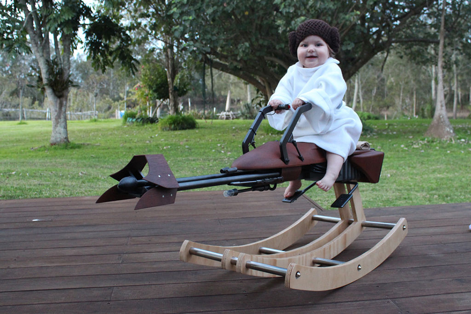 Sweet DIY Star Wars Rocking Horse Speeder Bike