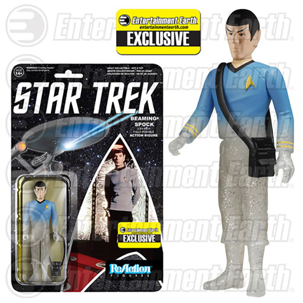 Beaming Kirk and Spock Action Figures