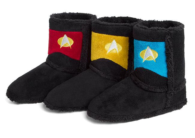 Star Trek TNG Uniform Boot Slippers