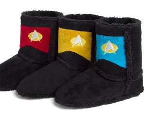 Star Trek TNG Uniform Boot Slippers