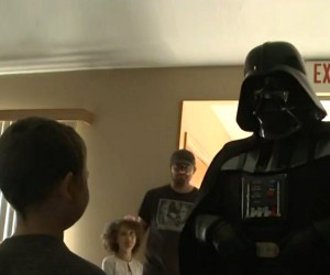 Darth Vader Visits Boy Fighting Leukemia
