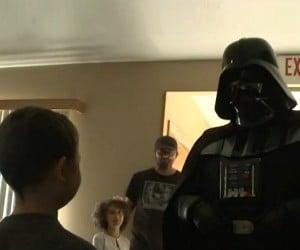 Darth Vader Visits Boy Fighting Leukemia