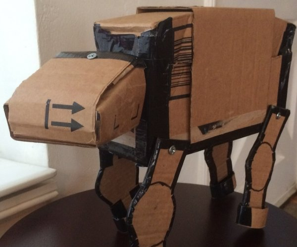 Make Your Own Cardboard AT-AT