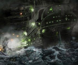 Star Trek Borg Ship Naval Battle Art Print