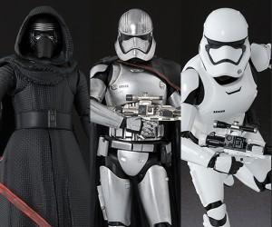 SH Figuarts Kylo Ren, Capt. Phasma & First Order Stormtrooper