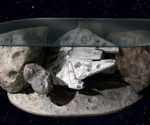 Millennium Falcon Asteroid Field Coffee Table