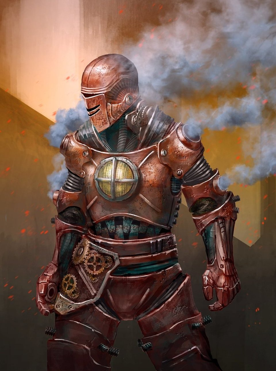 Steampunk Iron Man Art