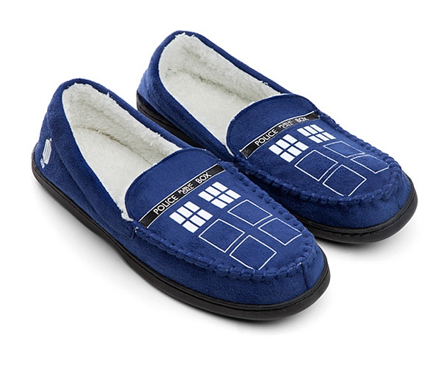 TARDIS Moccasin Slippers