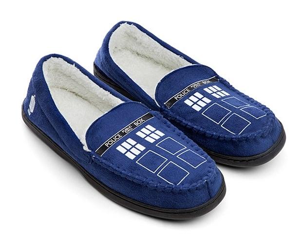 TARDIS Moccasin Slippers