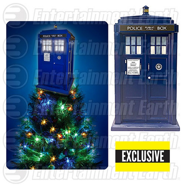 Doctor Who TARDIS Light-up Christmas Tree Topper