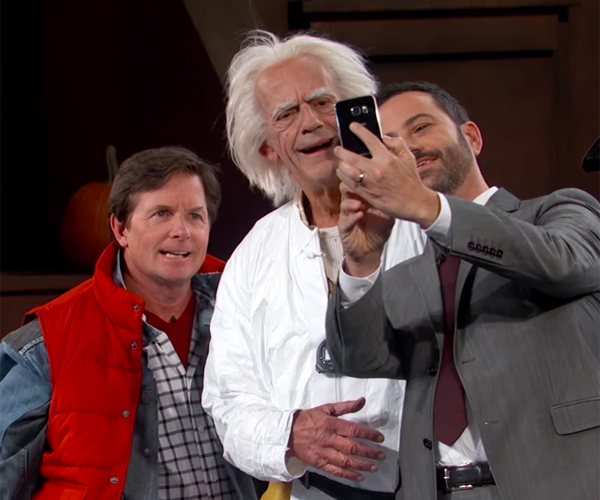 Marty McFly and Doc Brown Warped into 2015 on Jimmy Kimmel Live