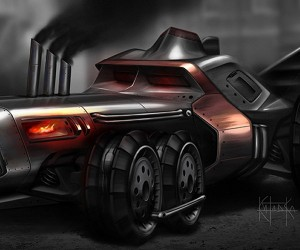 The Batmobile Goes Steampunk