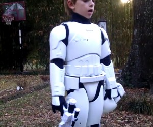 Kid's Costume Made from 48″ First Order Stormtrooper Figure