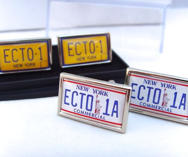 Ghostbusters ECTO-1 License Plate Cufflinks