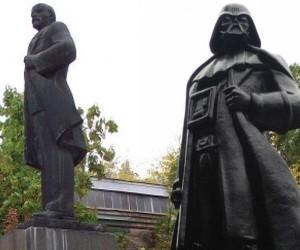 Lenin Statue Turned into Darth Vader
