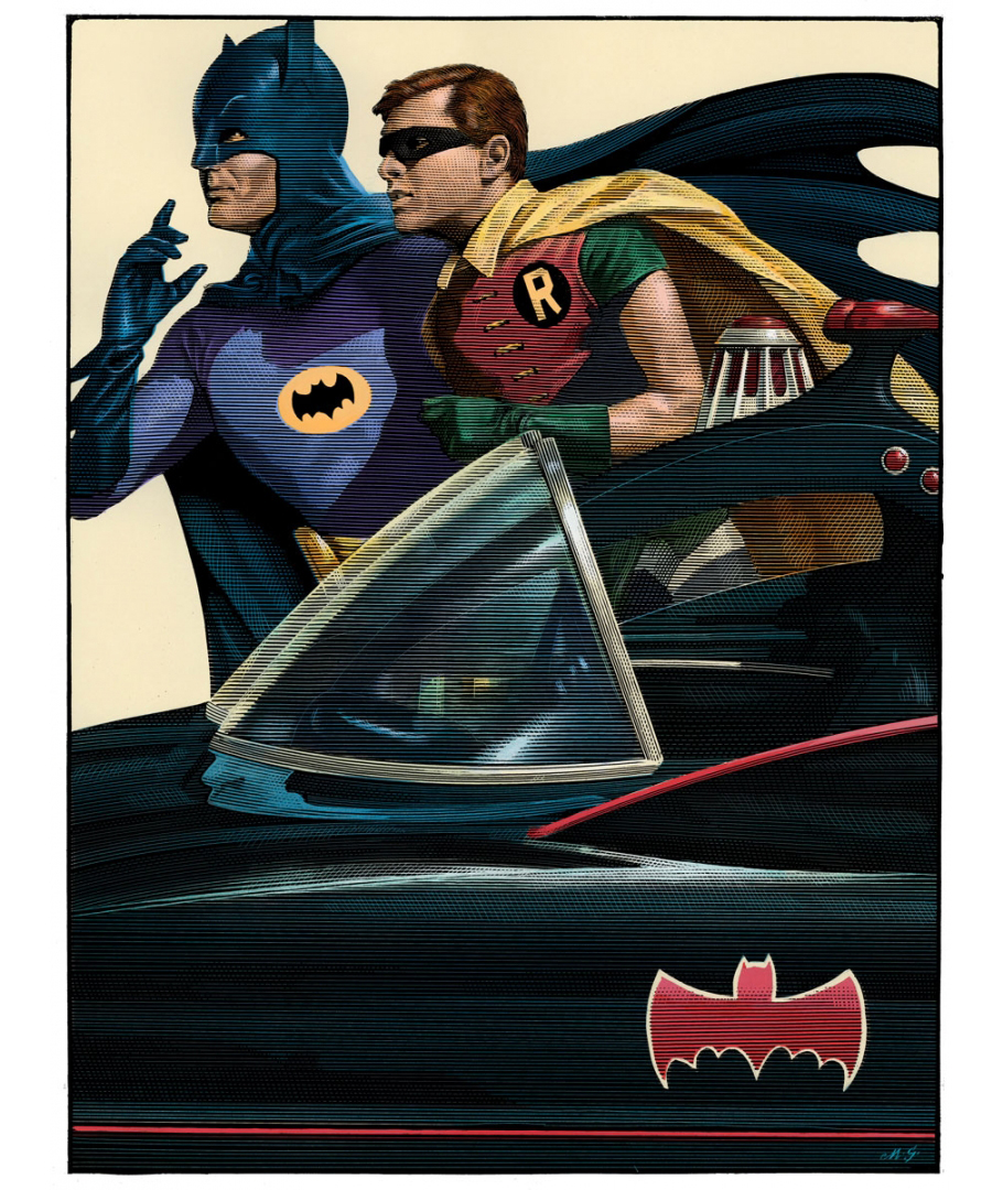 Mark Summers Batman '66 Screen Print