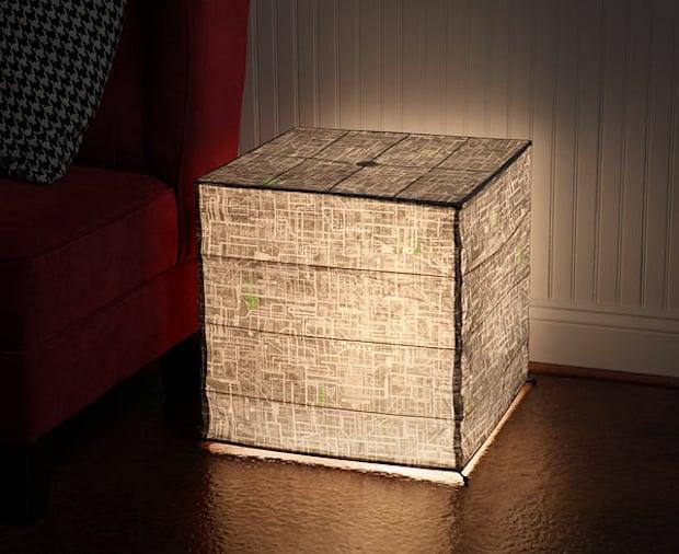 Borg Cube Floor-Standing Paper Lantern