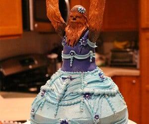 Little Girl Gets Princess Chewbacca Birthday Cake