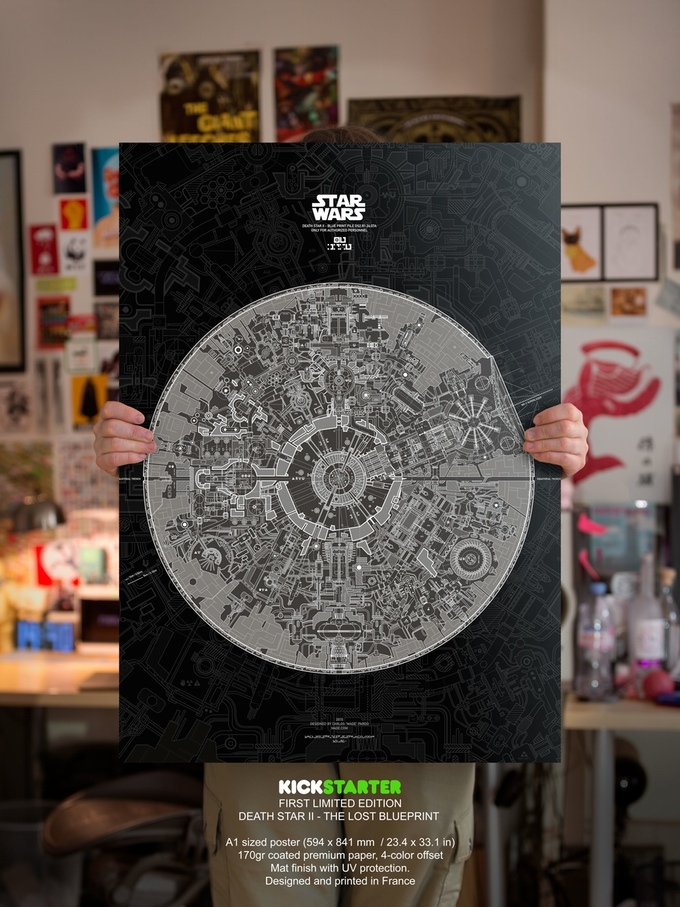 Death Star II Blueprint Poster