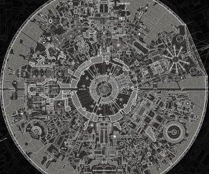 Death Star II Blueprint Poster