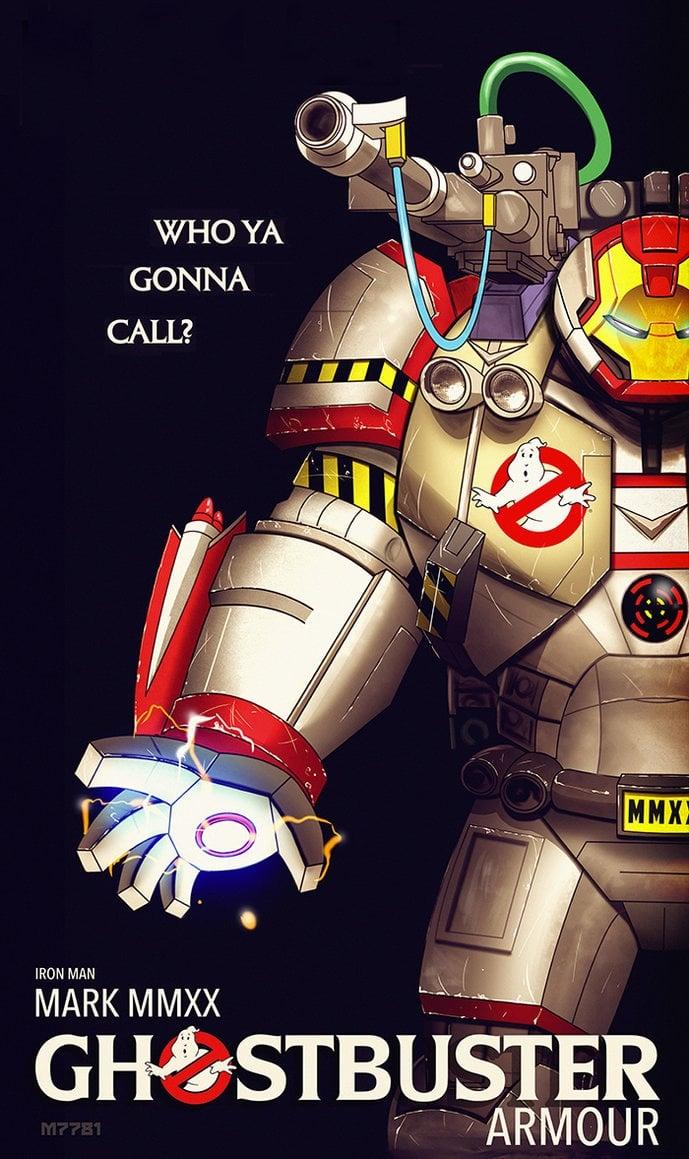 Iron Man Ghostbuster Armor Art