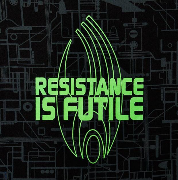 Star Trek Resistance is Futile Sleep Shirt