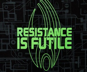 Star Trek Resistance is Futile Sleep Shirt