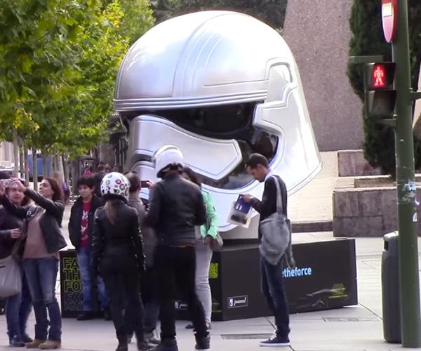 Giant Star Wars Helmets Land in Madrid