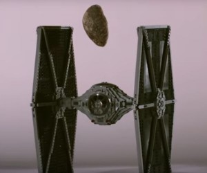 Watch A Lego TIE Fighter Get Smashed by Asteroids