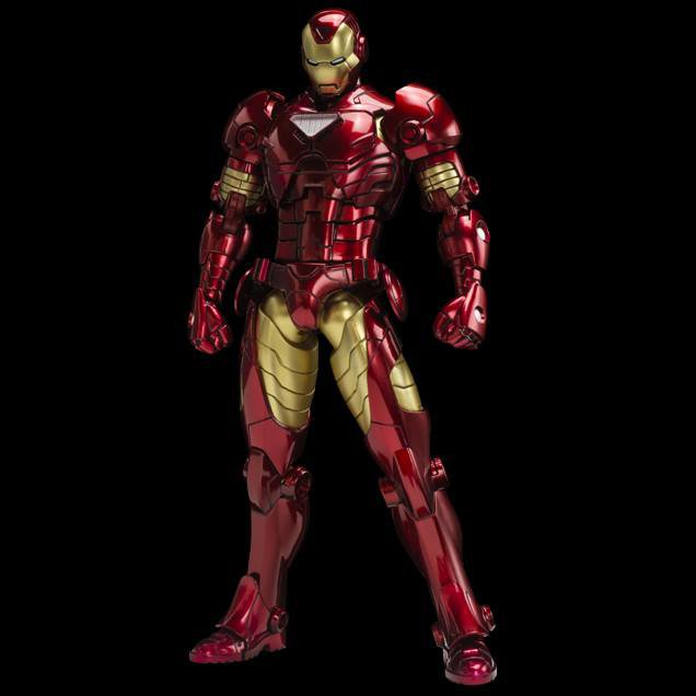 Sentinel Metallic Armorize Iron Man Action Figure