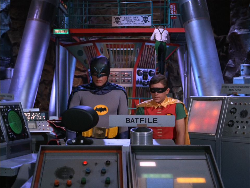 Batman 66 Labels Points out the TV Show's Labeled Items