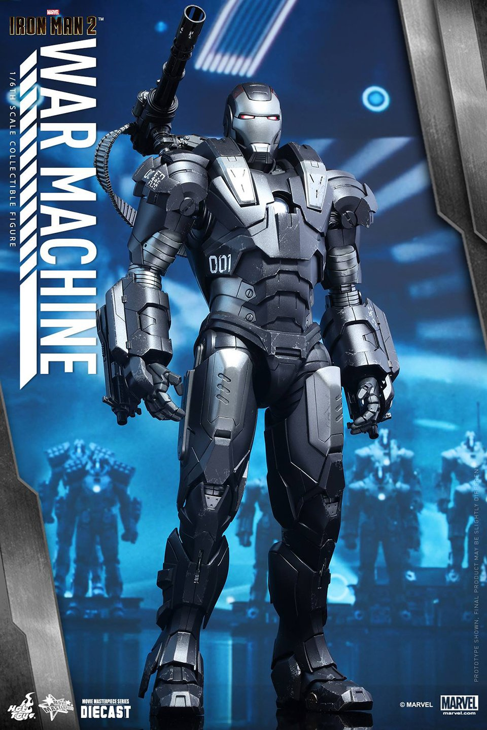 Hot Toys Iron Man 2 War Machine Sixth Scale Die-cast Figure