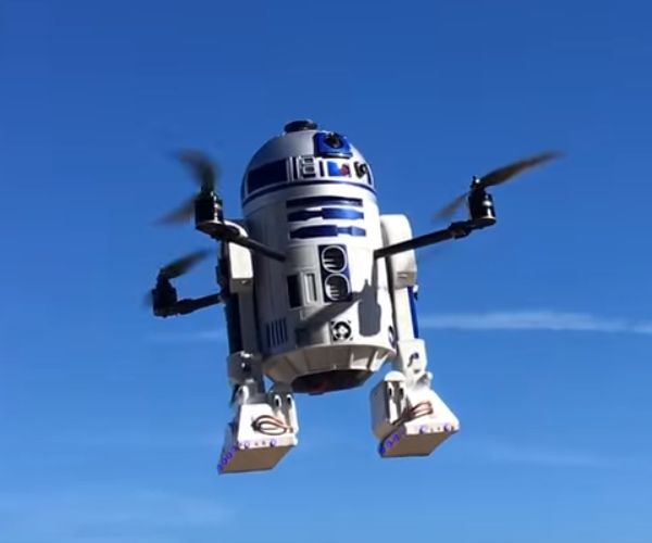 Star Wars Geek Creates Awesome R2-D2 Flying Drone