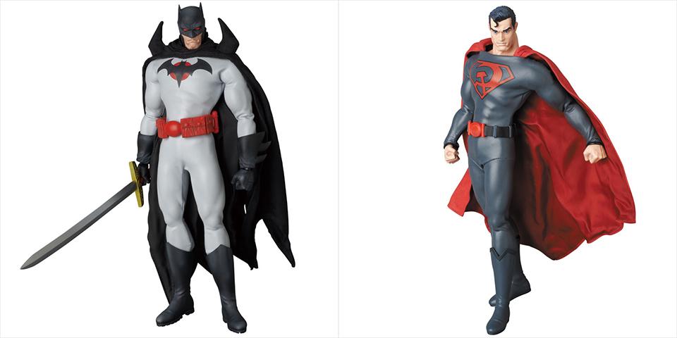Medicom RAH Flashpoint Batman & Red Son Superman Figures