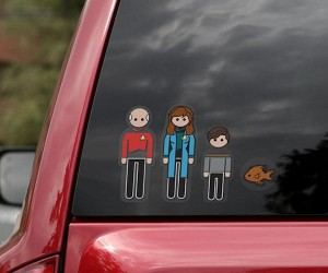 Star Trek: The Next Generation Family Car Decals