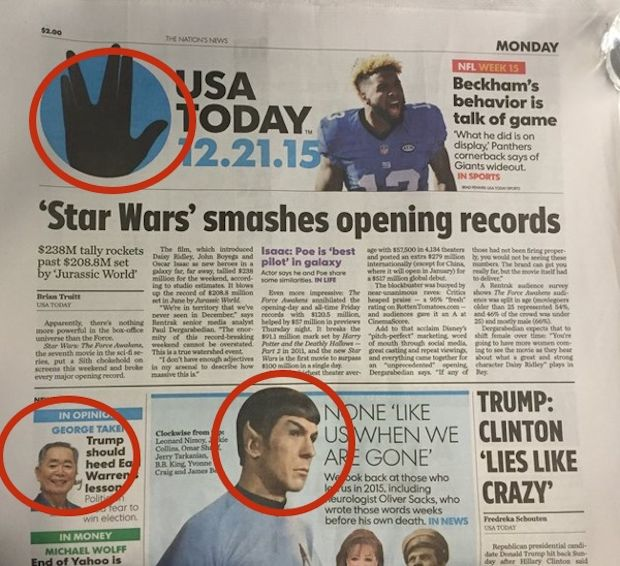 USA Today Trolls Star Wars Fans