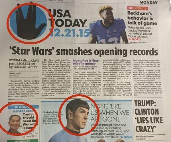 USA Today Trolls Star Wars Fans
