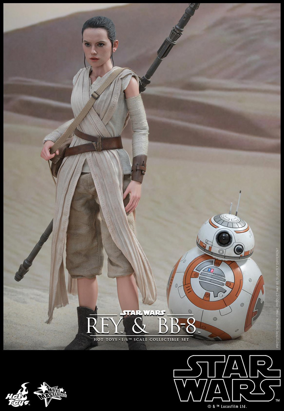 Rey Star Wars Toys : Hot toys star wars vii rey bb sixth scale figures
