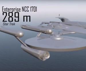 Starship Size Comparison Video